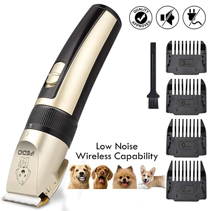 Ifedio Dog Grooming Kit Professional Hair Clipper For Dogs Rechargeable Electric Clippers Pet Heavy Duty Cordless Dog Grooming Clippers Low Noise Cat Grooming S Dog Grooming Clippers Cat Grooming Pet Grooming