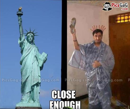 Statue Of Liberty Desi Funny [ More Funny People Pics