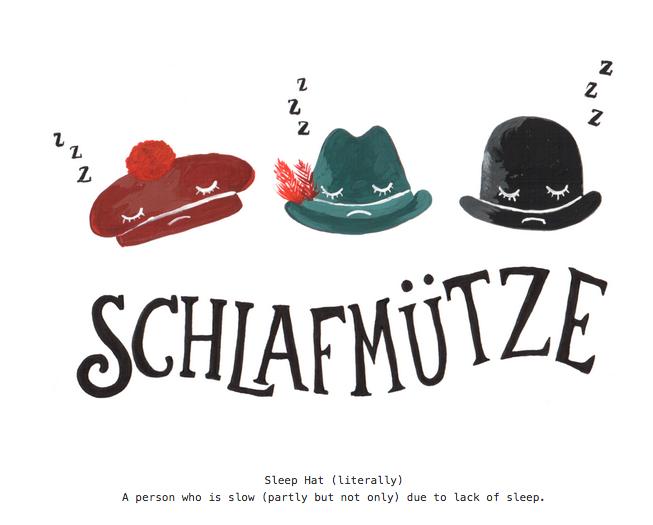 Schlafmuetze Learn German Sleep Hat German Language