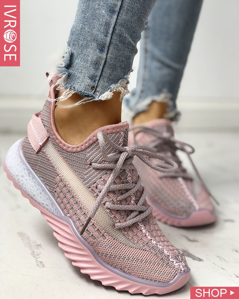 Net Surface Breathable Lace-Up Yeezy Sneakers | Yeezy ...