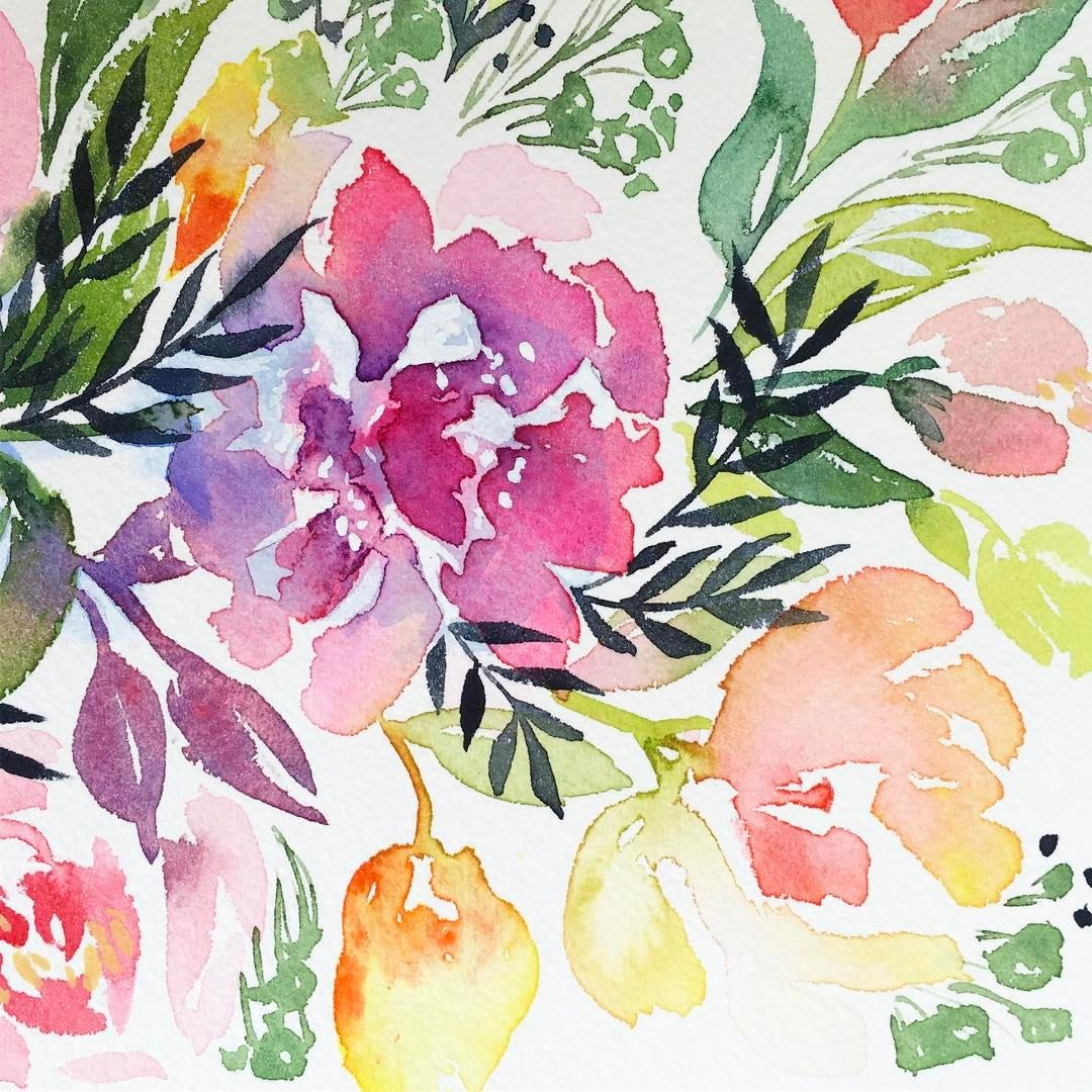 Diy Watercolor Florals Free Classes Natalie Malan Wall Art