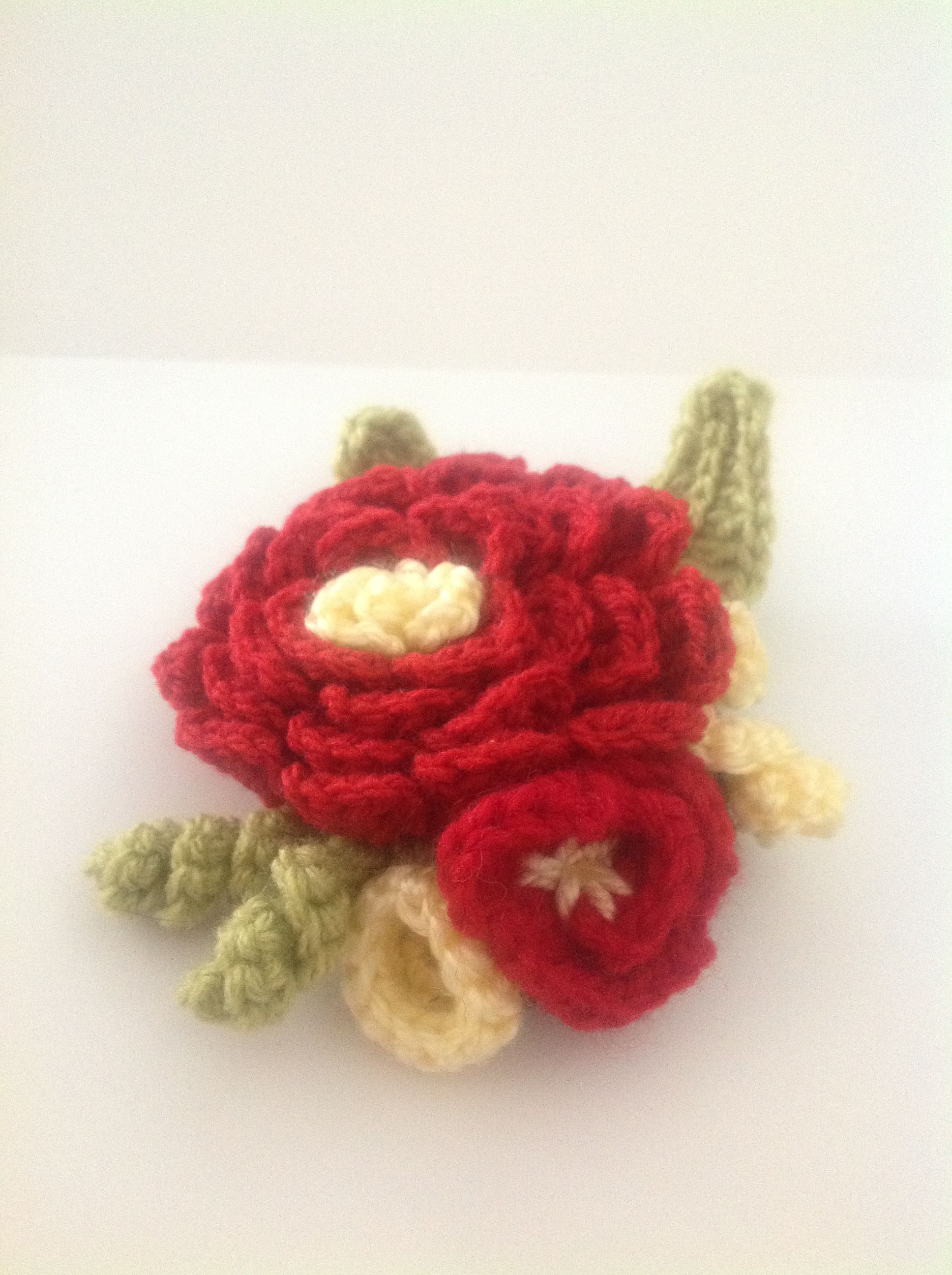 brooches brooch pinterest work crocheted crochet my pin