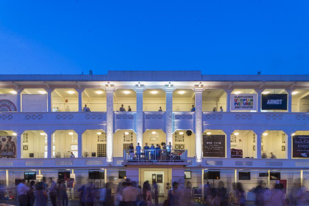 Du lịch Singapore bạn sẽ tận hưởng Gillman Barracks trong một buổi tối mát mẻ.