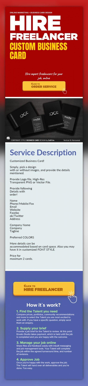 Custom Business Card Online Marketing, Business Card Design ...