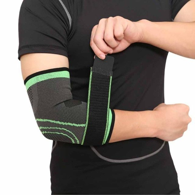 17ba1d601c Breathable Elbow Brace Support Safety Pressurized Bandage Outdoor Elbow  Pads for Sport Basketball Fitness Elastic Arm Elbow Review