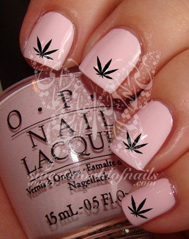 Hash Weed Leaf Nail Art Water Decals Transfers Wraps