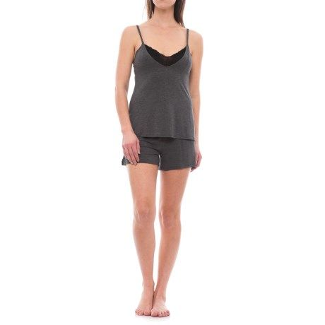 e4d7f1db30a34c Danskin Tank Top and Shorts Pajamas - Built-In Bralette (For Women ...