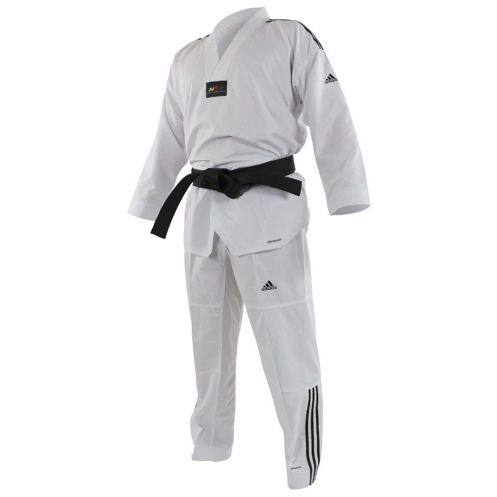 Dobok taekwondo Contest col blanc adidas