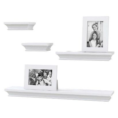 Threshold Floating Shelves Cool Threshold™ Traditional Shelf And Frame Set Of 6  Girl's Room Inspiration Design