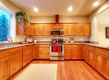 laminate flooring and cabinetry |  kitchen cabinets on wooden