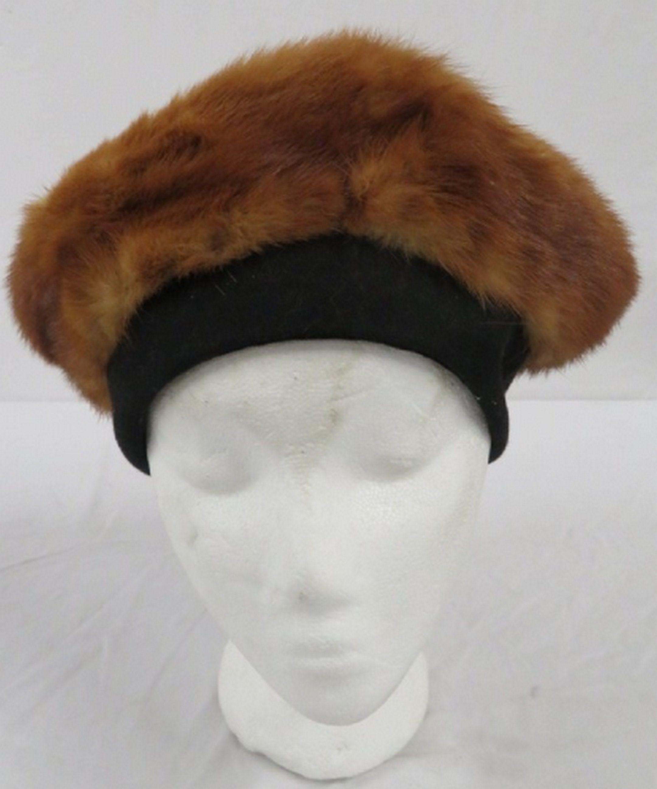 c750e9a5a Mae Melin Mink Fur Hat, Unique Vintage Women's Warm Winter Reuse ...