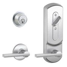 schlage commercial locks. Unique Schlage Buy The Schlage Satin Chrome Direct Shop For  Commercial Grade 2 Interconnected Single Lock Latitude Entry Lever Set And Cylinder  For Locks