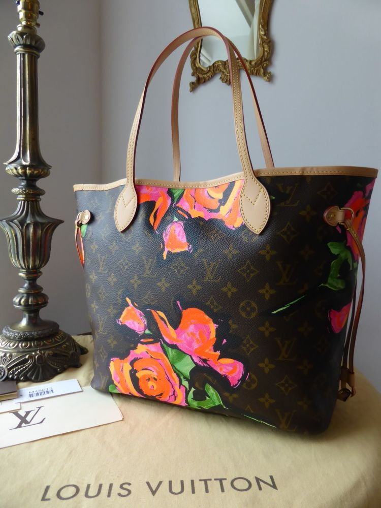 33e4a4e19643 Louis Vuitton Limited Edition Neverfull MM Monogram Roses Stephen Sprouse   gt  https