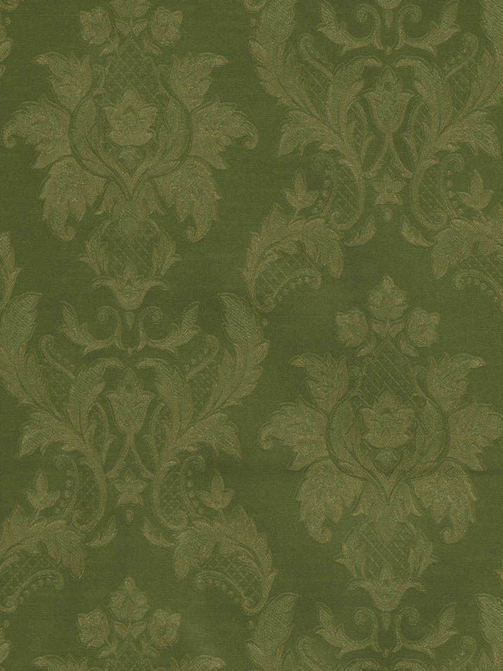 A lovely green damask wallpaper from the book Vintage