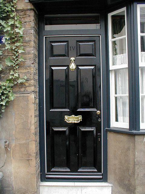 Black Door in London | Black door, Doors and Front doors