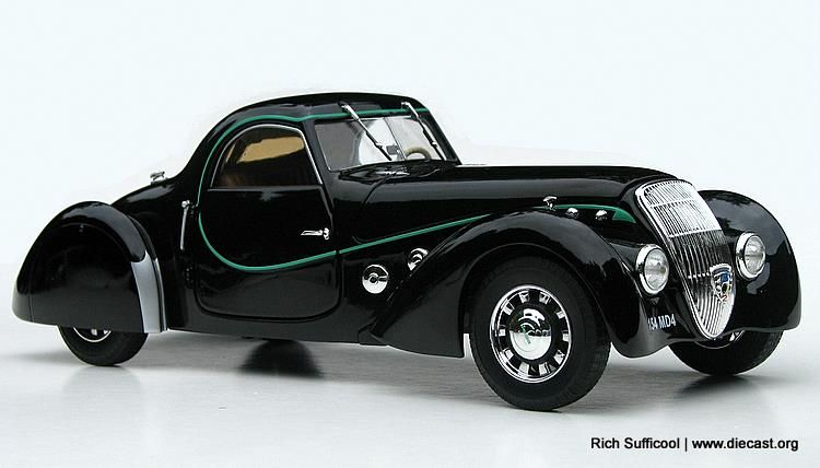 1937 Peugeot 302 Darl Mat Coupe Early 20th Century Scale