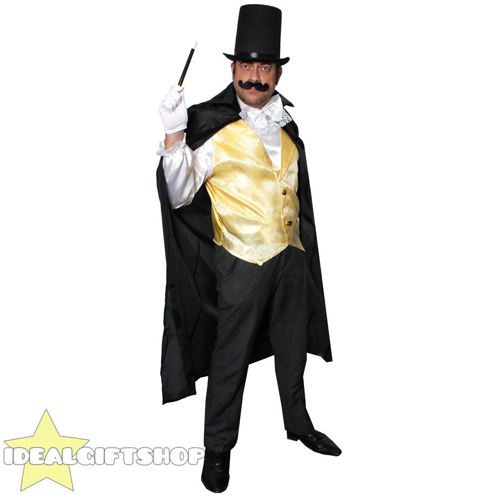 Details about MENS MAGICIAN COSTUME ADULTS FANCY DRESS WAISTCOAT ...