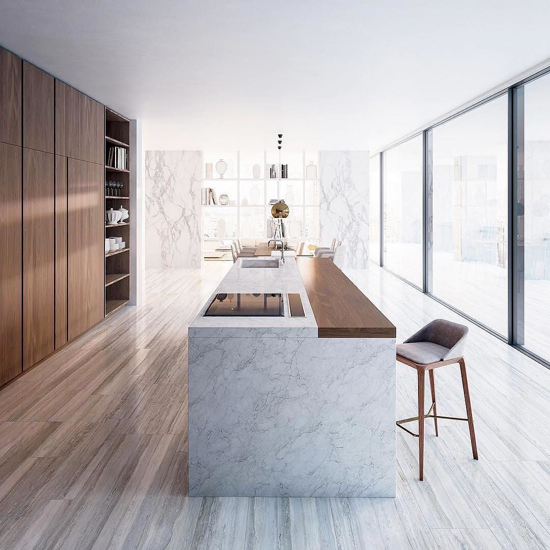 This modern kitchen line has a powerful technical and aesthetic