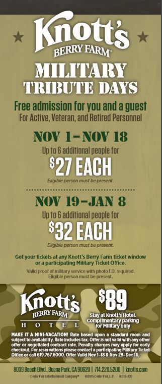 Knott S Berry Farm Is Honoring The Military Community With