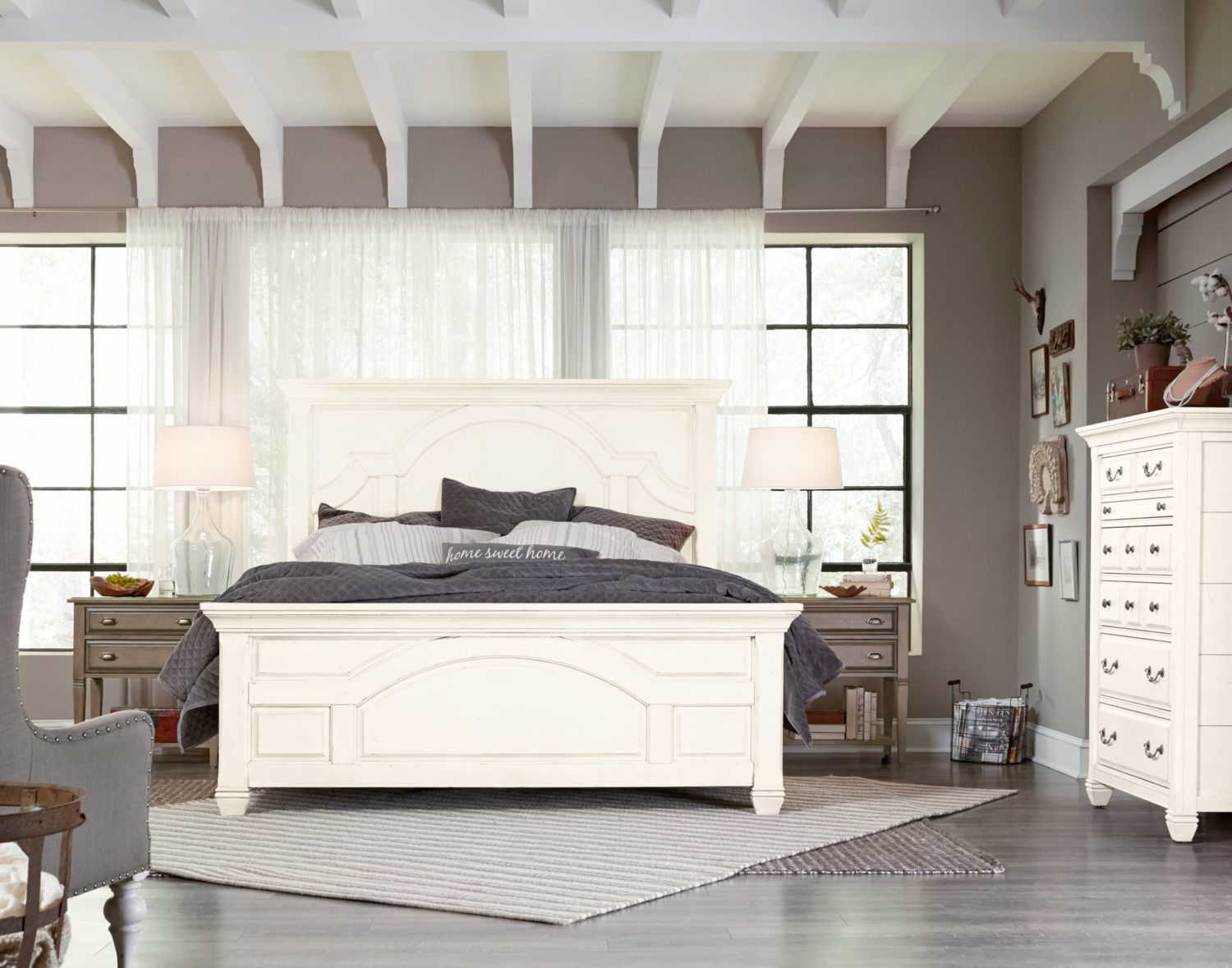 Lighten up your room with this Hancock Park king bed