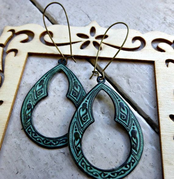 These earrings are very light weight and are easy to wear all day. Made in the…