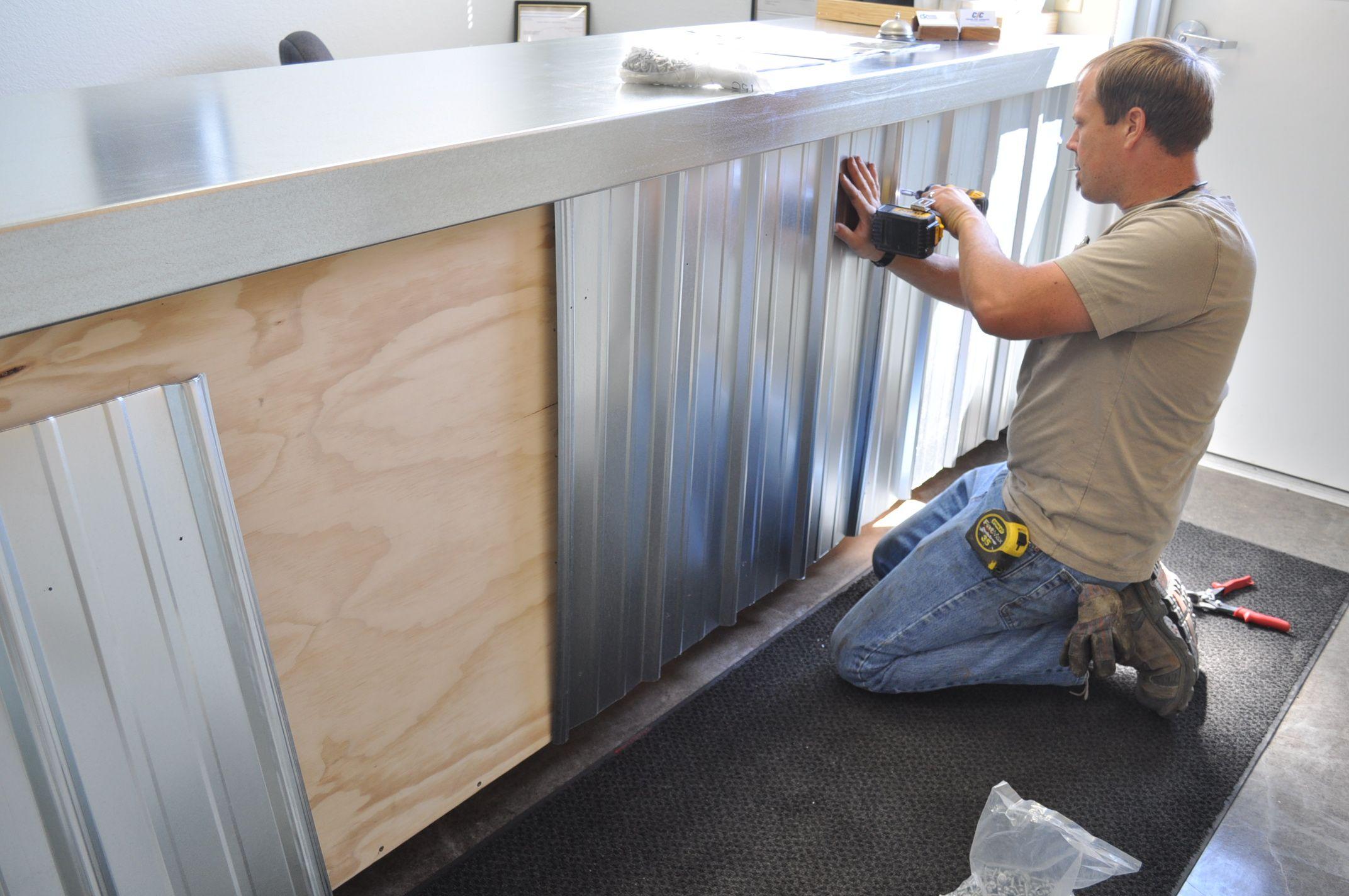 Custom Metal Counter Tops Made With Galvanized Steel Cheap Countertops Inexpensive Countertops Diy Countertops