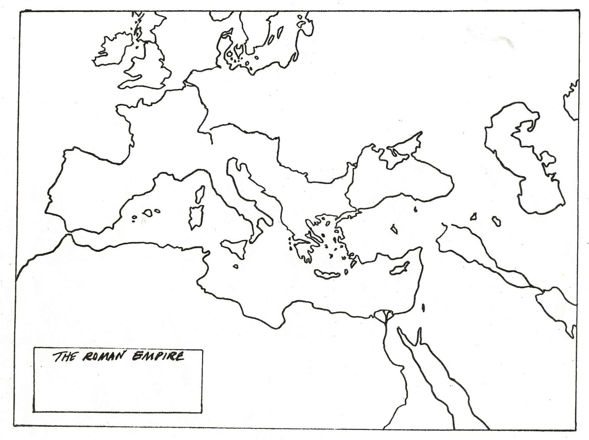 hight resolution of blank map of roman empire   Ancient rome map