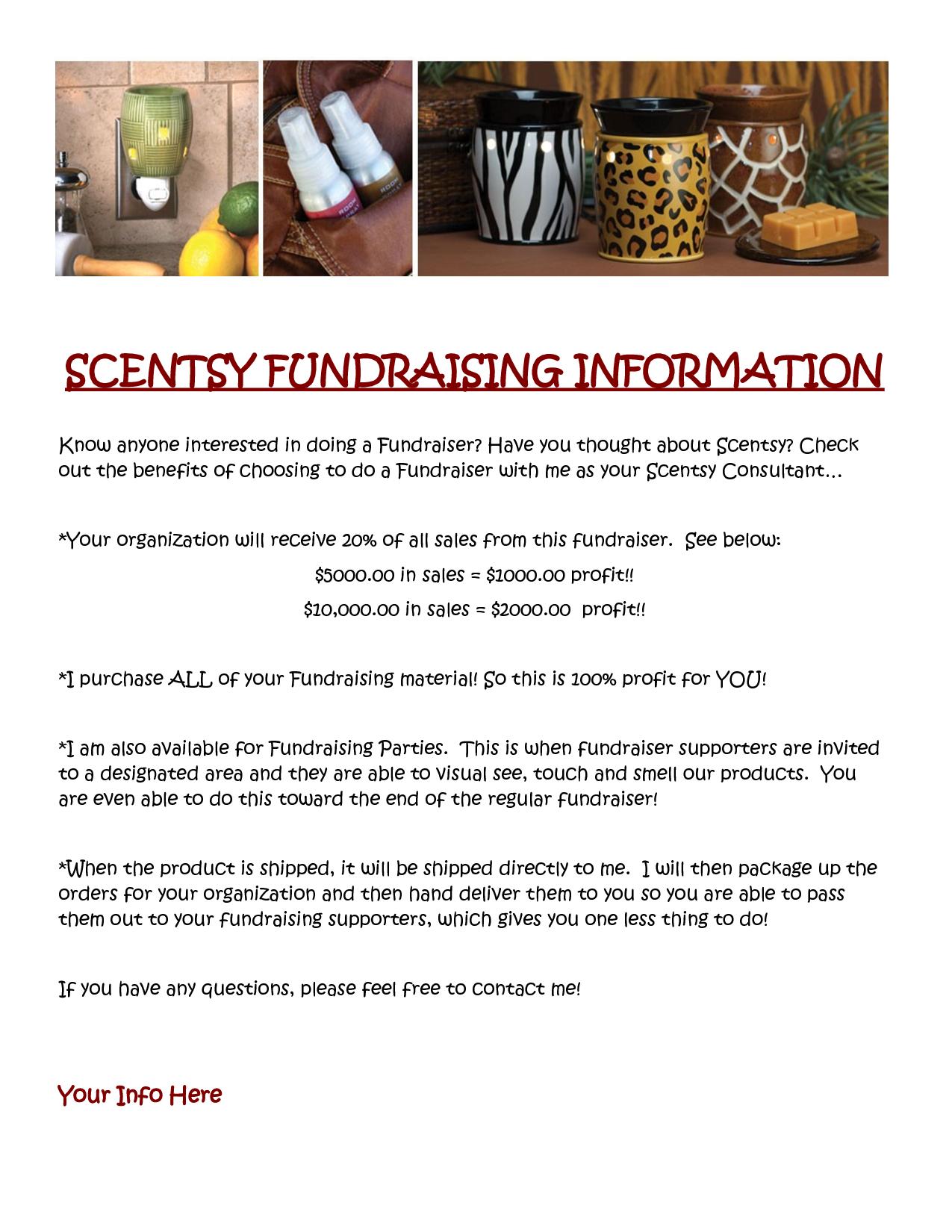 scentsy fundraising information