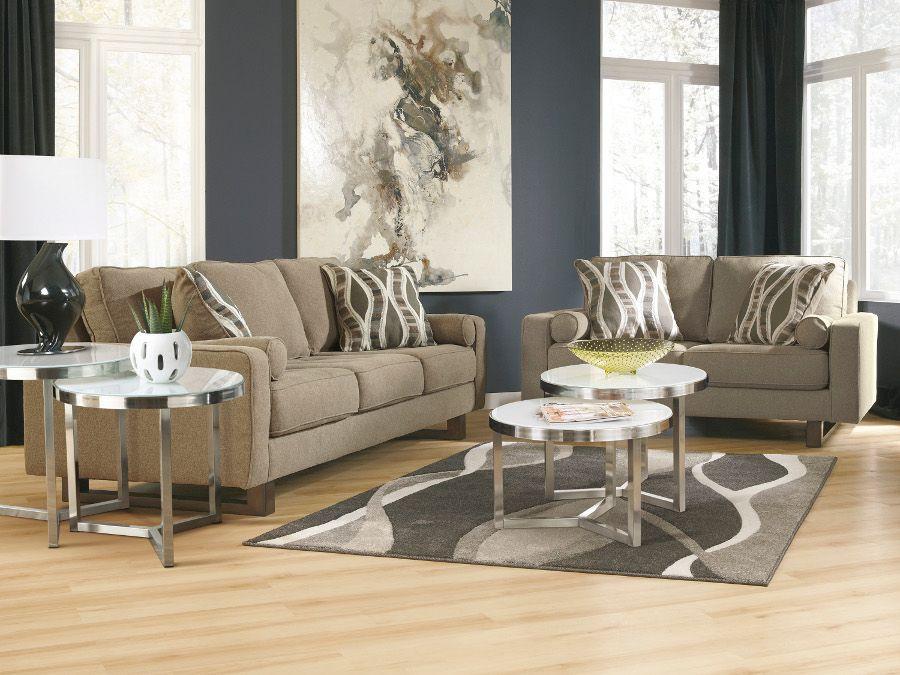 treylan smoke sofa & loveseat #sofa #loveseat #livingroom #rana