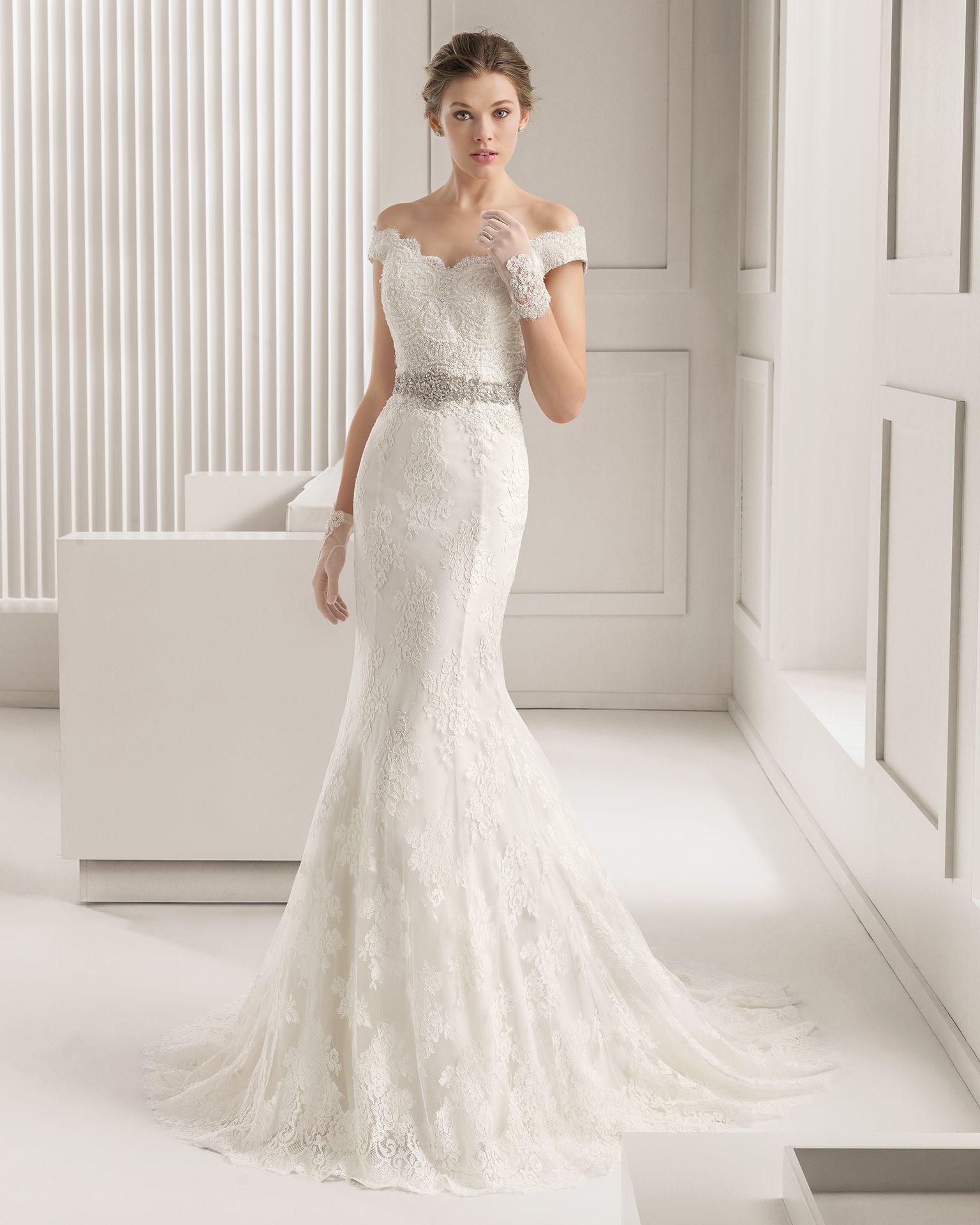 Vestidos de novia y vestidos de fiesta | Encaje, Novios y Rosa clará