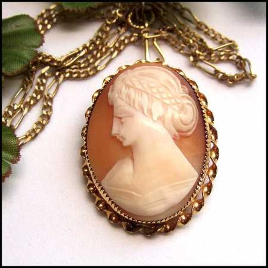 Antique cameo pin carved sardonyx shell 12kt gold brooch 1920s antique cameo pin carved sardonyx shell 12kt gold brooch 1920s jewelry mozeypictures Choice Image