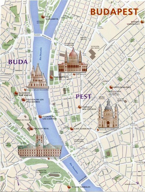 Resultado de imagen de mapa de budapest