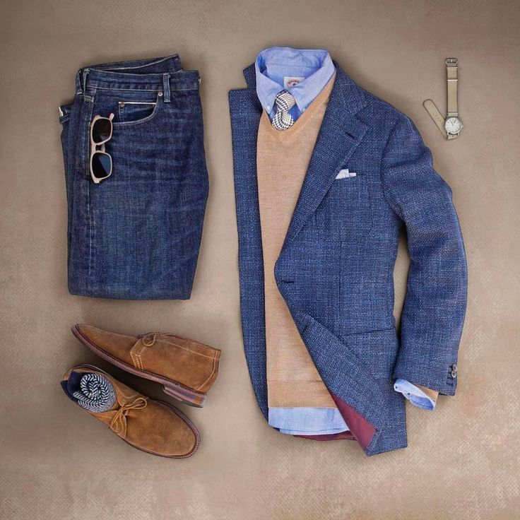 Smart casual outfit grid from matthew graber ✨ Follow The Stylish Man