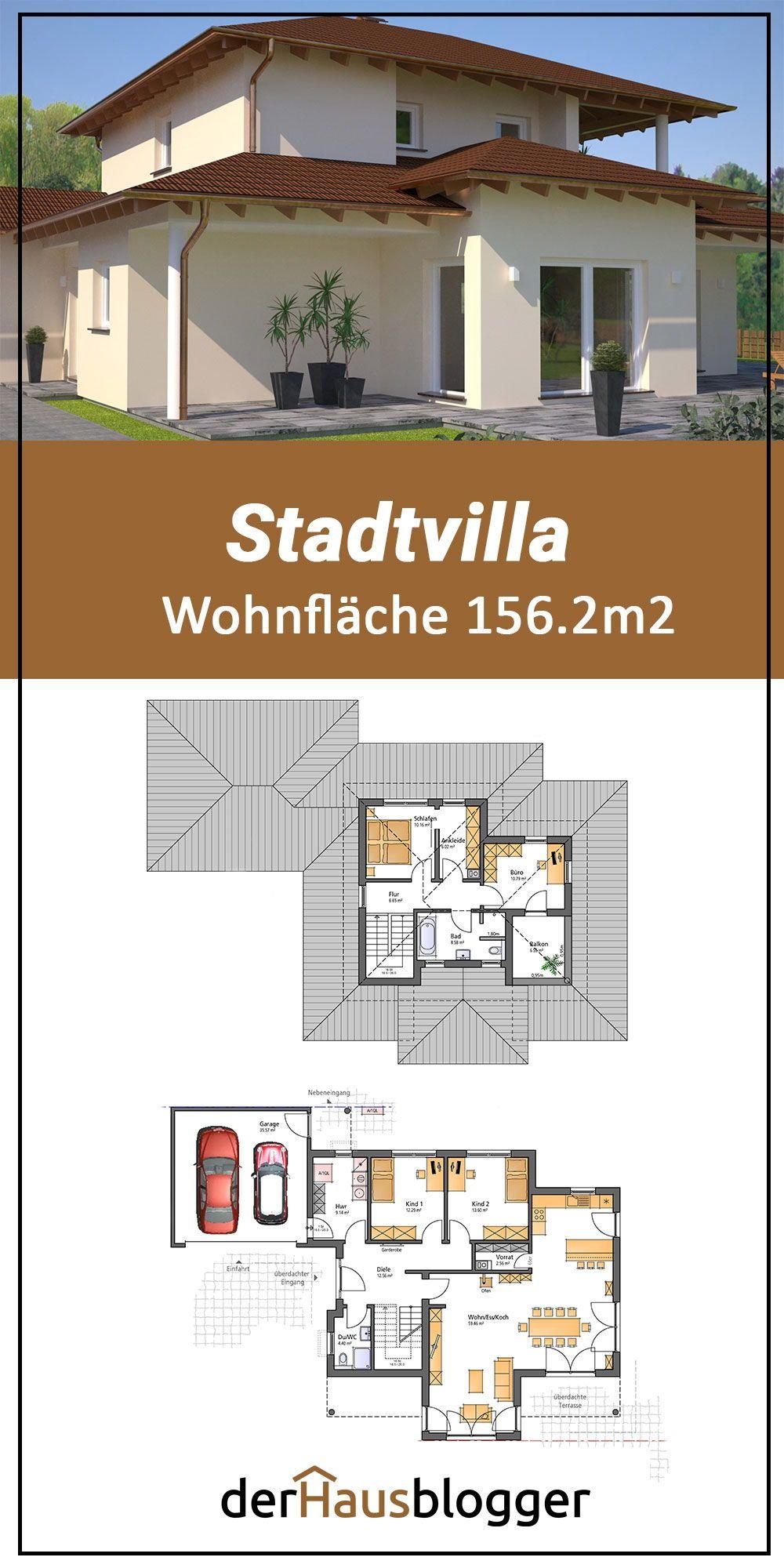 Stadtvilla 156.2m² in 2020 Haus, Haus planung, Grundriss