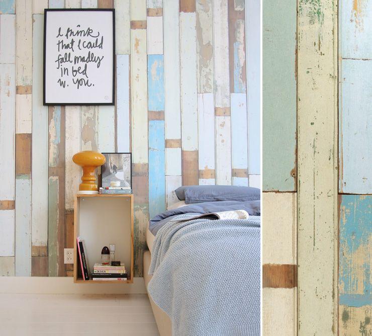 papier peint scrapwood nlxl arte papier peint trompe l 39 oeil pinterest maison papier. Black Bedroom Furniture Sets. Home Design Ideas