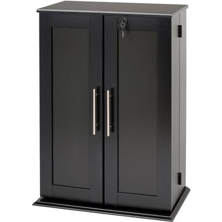 small deluxe media storage cabinet with locking shaker doors salon rh pinterest com small cabinet with lock ikea small cabinet with lock ikea