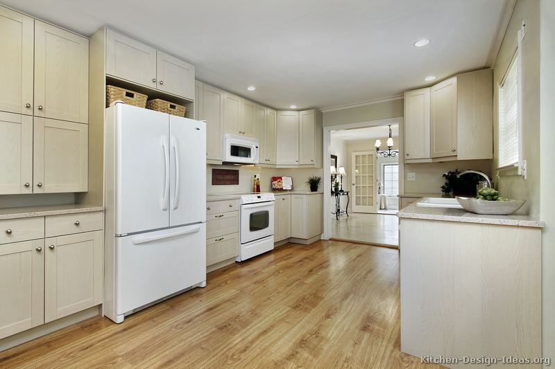 White Kitchen Maple Floors traditional whitewash kitchen cabinets #32 (kitchen-design-ideas