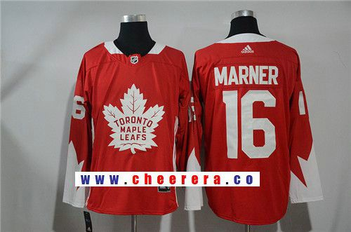 Men s Toronto Maple Leafs  16 Mitchell Marner Red 2017-2018 adidas Hockey  Stitched NHL eb22282b9