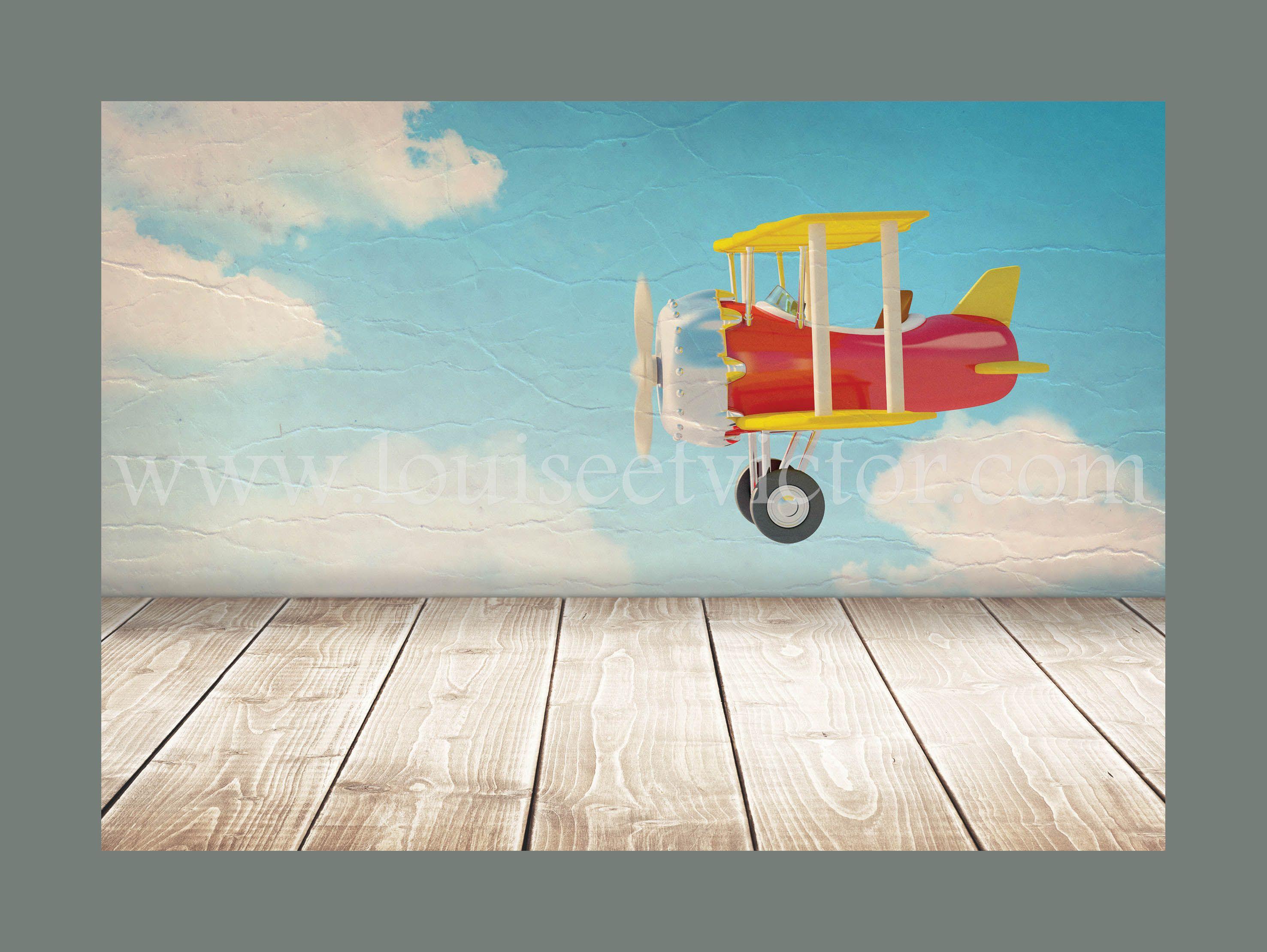 Affiche Decorative 30 40 Cm Representant Un Avion Vintage Faisant Du Rase Motte Au Dessus D Un Plancher Deco Chambre Enfant Decoration Chambre Enfant Et Chambre Enfant