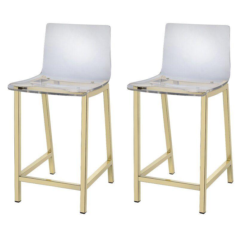 Tim Bar Counter Stool In 2020 Acrylic Bar Stools Bar Stools With Backs Bar Furniture
