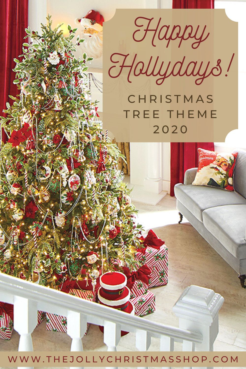 New For 2020 Happy Hollydays Christmas Tree Theme Take A Step Back Into Yesteryear Wi In 2020 Red Christmas Decor Red And Gold Christmas Tree Blue Christmas Decor