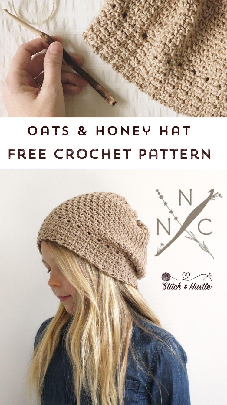 Oats & Honey Crochet Hat Free Pattern | crochet | Pinterest