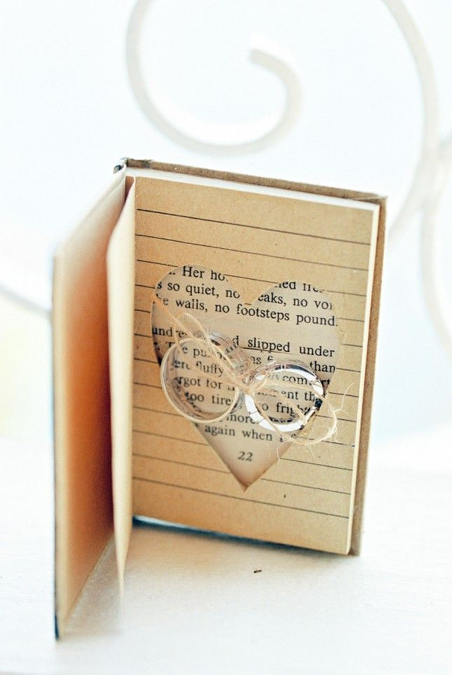 Library lovers this book wedding ring holder is ideal for you
