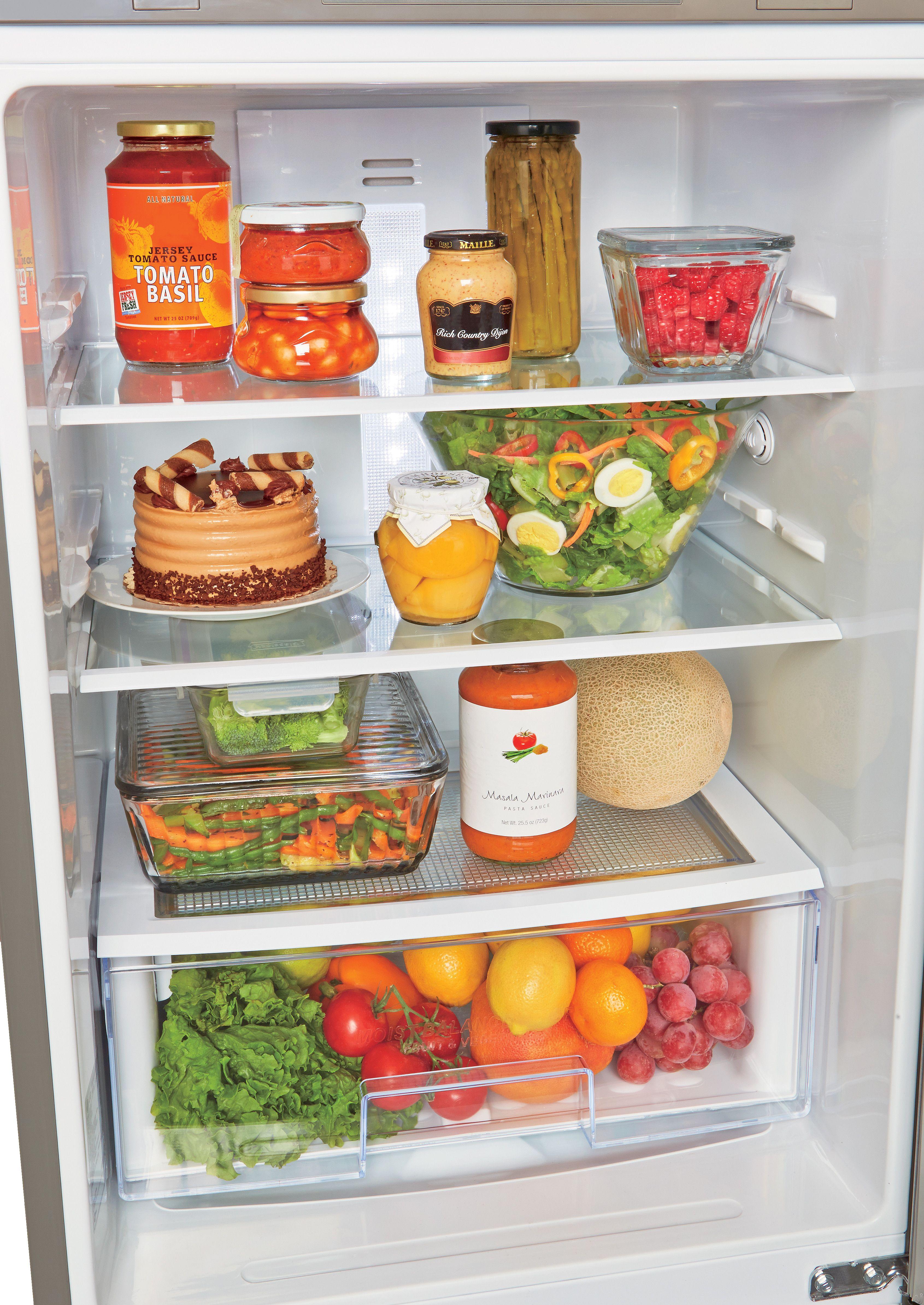 LG LBN10551PS 10.1 cu. ft. Bottom Freezer Refrigerator with 2 SpillProtector Glass Shelves, 5 Door Bins, 4 Freezer Drawers, Digital Temperature Controls and LoDecibel Quiet Operation