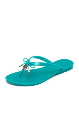 84136db063d9db Tory Burch Jelly Bow Thong Sandals