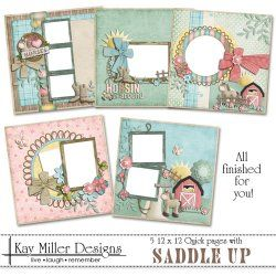Saddle Up 12 x 12 Quick Pages