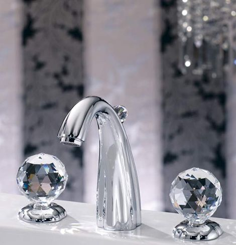 faucets with crystal glass handles