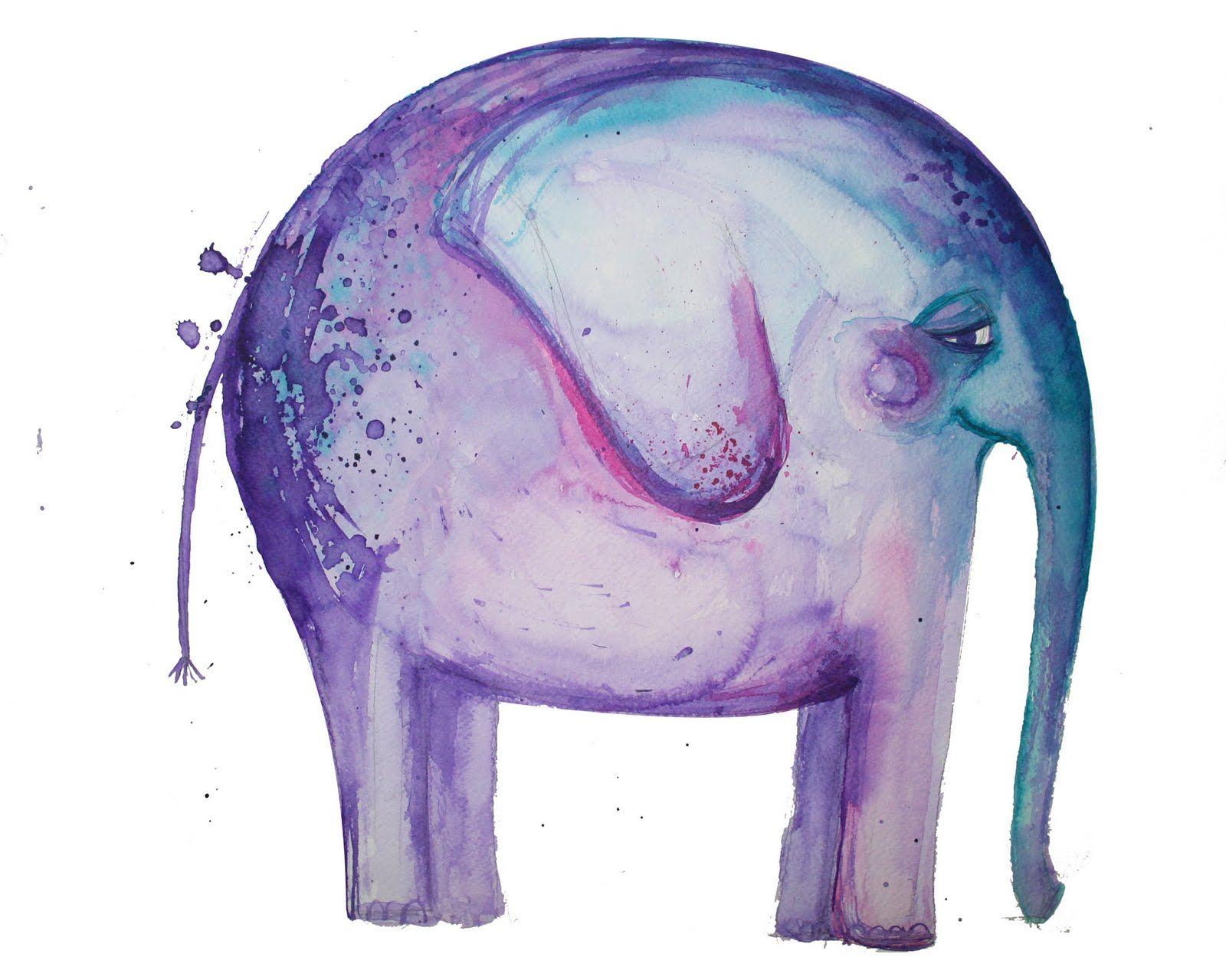 Pin By Ashley Herridge On Illustrations Animals Watercolor Elephant Elephant Art Animal Illustration