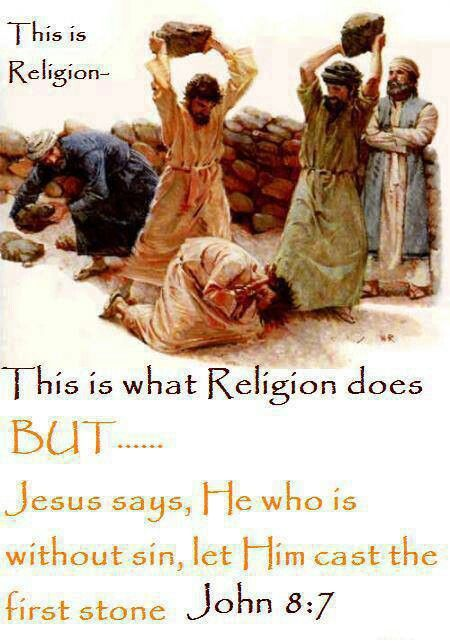 .You without sin....cast the first stone via: Phobe D Fregeo