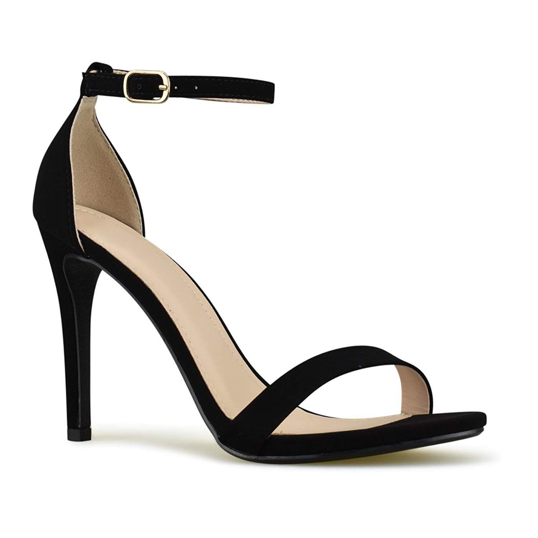 Womens Ladies High Heels Ankle Strap Sandals Block Party Platform Classic Shoes